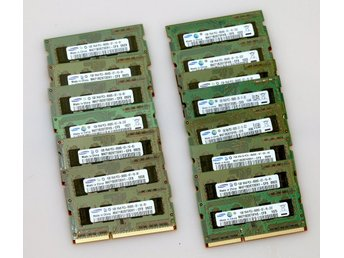 15  minnesmoduler  SO-DIMM PC3-8500 1GB Samsung