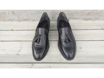 bd2ac8b2656 Blå felfria fräscha Bally France Monsieur vintage skinn skor loafers tofsar  45