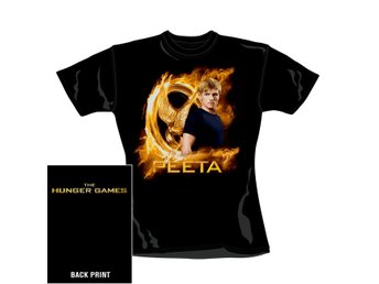 HUNGER GAMES - GOLD FIRE PEETA T-shirt (skinny) M