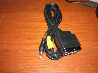 Scart  kabel 2,5m med audio/video in scart hane- 2xRCA hane