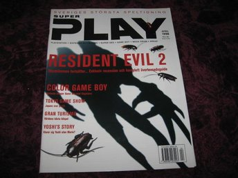 SUPER PLAY APRIL 1998 (RESIDENT EVIL 2 ÖVERLEVNADS GUIDE)
