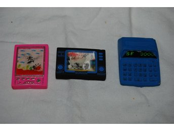 Eraser & Watch (Game & Watch) TV Japan & Miniräknare Suddgummi