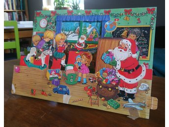 Pop up-adventskalender / Julkalender * 60-tal? * Jul * Tomte