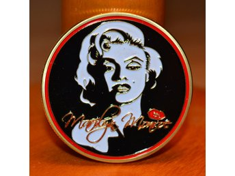 "Marilyn Monroe ""Hollywood Super Star"" Mynt Guld Plätering USA Ny"