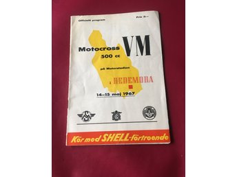 Program Motocross VM Hedemora 1967