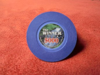 The Winner Clup 5000$ XL poker chips. Card Marker.