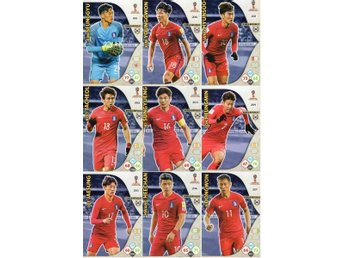 Panini Adrenalyn World Cup RUSSIA 2018 - SYDKOREA - 9 x Team mates