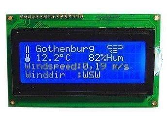 LCD Display 4x20 Blå med vita tecken HD44780 NY! - Ytterby - LCD Display 4x20 Blå med vita tecken HD44780 NY! - Ytterby