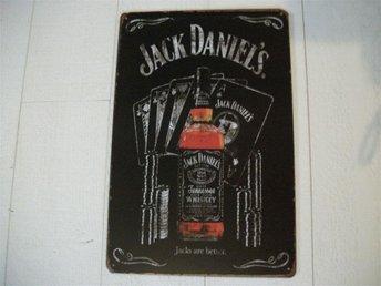plåtskylt, jack daniels, whiskey, whisky, tavla, bar - Jönköping - plåtskylt, jack daniels, whiskey, whisky, tavla, bar - Jönköping