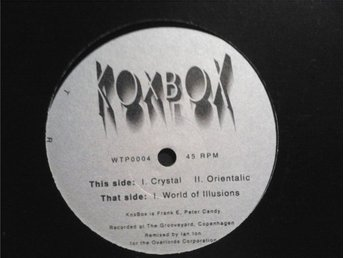 "Vinylskiva KOXBOX Crystal / World Of Illusions 12"" -93 Electronic Techno Trance"
