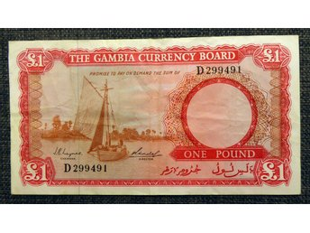 THE GAMBIA CURRENCY BOARD ONE POUND 1956-70