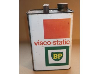 BP Oljedunk Visco-Static HD 5 Liter Plåtdunk Olja Vintage