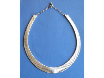 HALSBAND/COLLIER - VIT METALL -  RETRO