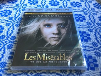 Soundtrack: Les miserables (Highlights) Blu ray musick   Ny iplastad oöppnad