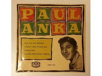 Paul Anka, You Are My Destiny, Crazy Love, 1958, Skivan = VG/VG+