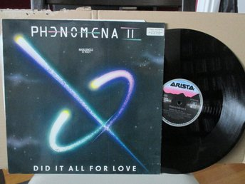 "Phenomena - Did It All For Love 12"" Single (HR/Eng/J.Wetton/G.Hughes)"