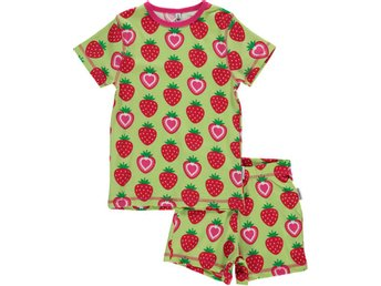 MAXOMORRA PYJAMAS STRAWBERRY strl 110/116