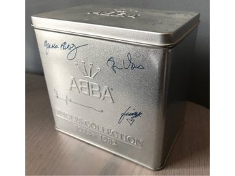 ABBA Singles Collection 1972-1982 CD box med 28st CD-S (metallbox raritet!)