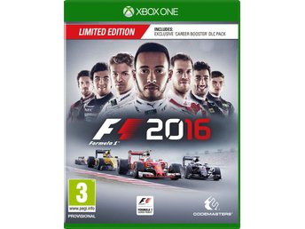 F1 2016 Limited Edition + Career Booster Pack - Helt nytt till Xbox One!!! REA