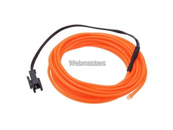 Ljusslinga Neon DC 12V 3m Bil - Orange