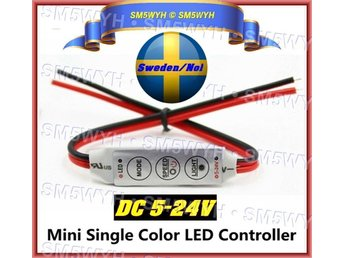 DC 5-24V/4A Mini Led Controller 3 Tangenter Dimmer för styrning av Led Strip m.m