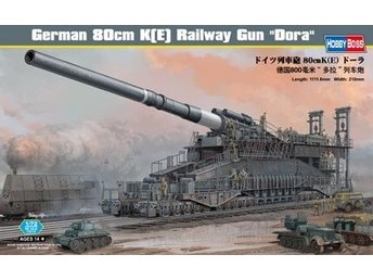 Hobbyboss 1/72 German 80cm K(E) railway gun Dora