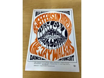 JEFFERSON AIRPLAY FILLMORE SAN FRANSISCO 1966 PHOTO POSTER