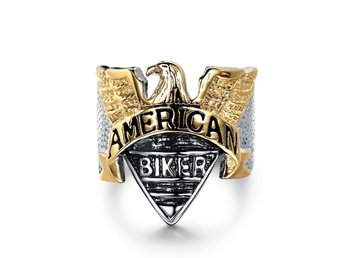 Ny ring. 20,70 mm. Mycket fin. Stainless Steel. American biker.