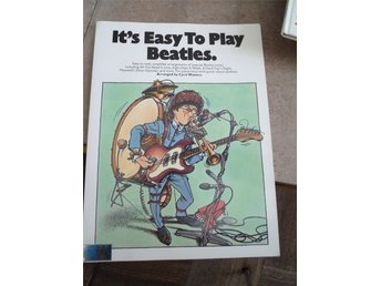 It's Easy To Play BEATLES / Wise, 1977 / Beg nothäfte i fint skick