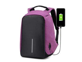 Stöldsäker ryggsäck med USB - Lila (320013412) ᐈ TemNet på Tradera ac7673de46d49