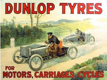 Dunlop Tyres plåtskylt - Degerfors - Dunlop Tyres plåtskylt - Degerfors