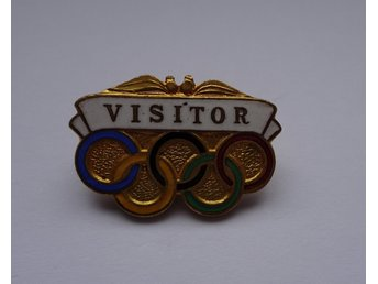 1956 Olympiska Spelen Melbourne Märke Olympic Games Melbourne 1956 Visitor Badge