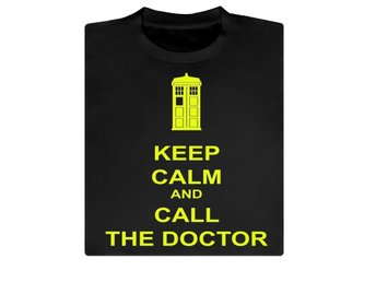 Keep Calm and call the doctor, Doctor Who, T-shirt / Tshirt XXL NY