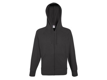 Fruit Of The Loom Mens Lightweight Full Zip Hooded Raglan Sweat Jacket