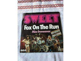 "THE SWEET - FOX ON THE RUN 7"" 1975"