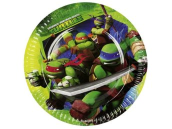 Teenage Mutant Ninja Turtles Papptallrikar 6-pack Hero tallrikar