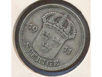 1911 50 öre Gustaf V se bild - Västra Frölunda - 1911 50 öre Gustaf V se bild - Västra Frölunda