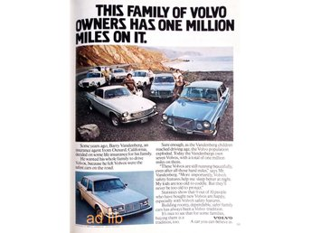 VOLVO - A CAR YOU CAN BELIEVE IN, TIDNINGSANNONS Retro 1979
