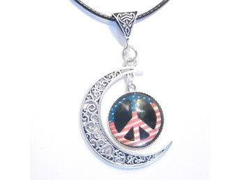 Fred måne halsband / Peace moon necklace