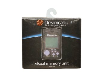 Visual Memory Unit VMU Dreamcast Svart