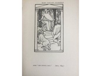 MARY SARGANT FLORENCE EXLIBRIS THE CRYSTAL BALL 1896 ANTIK TRÄSNITT PLANSCH