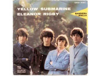 "BEATLES - Yellow Submarine  7"" Singel  Italien"