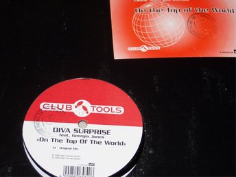 "DIVA SURPRISE feat. GEORGIA JONES - ON THE TOP 12"" 1998 MINT"