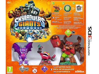 "Skylanders Giants. Startpaket til 3DS. MED 3 figurer, bl.a. ""Punch Pop Fizz"""