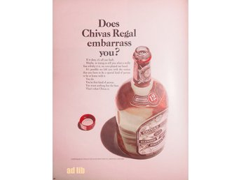 CHIVAS REGAL SCOTCH WHISKY TIDNINGSANNONS Retro 1967