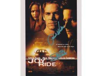 JOY RIDE MINI POSTER - PAUL WALKER - STEVE ZAHN PRE-PRINT AUTOGRAF FOTO