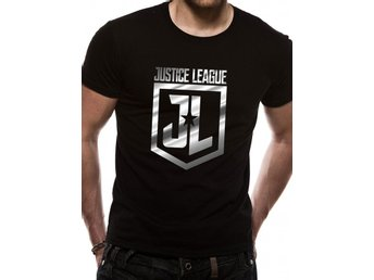 JUSTICE LEAGUE MOVIE - FOIL LOGO (UNISEX) - Extra-Large