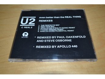 U2 - EVEN BETTER THAN THE REAL THING.  REMIXES.  CD-SINGEL.