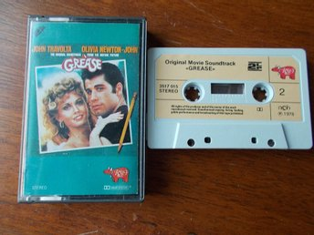GREASE SOUNDTRACK på kassett RSO 1978 John Travolta Olivia Newton-John