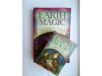 Earth Magic Oracle Cards & book av Steven D Farmer - NY INPLASTAD Tarot New Age.